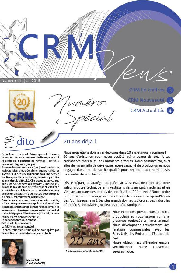 CRM News n°44 juin 2019